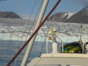 Manip devant glacier Belcher