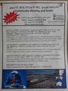 Poster reunion publique et repas Grise Fiord