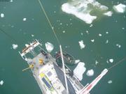 Essai relevage sonar dans la baie Talbot