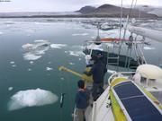 Prelevement eau Talbot Inlet