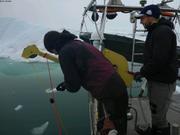 Gabriel lache messager pour prelevement eau baie Talbot