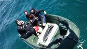Depart pour petites explorations des fonds de Miquelon