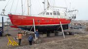 Vagabond retrouve son equipage a Miquelon le 10 avril 2019