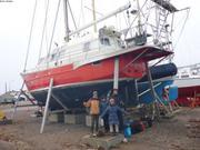 Vagabond retrouve son equipage a Miquelon 10 avril 2019