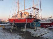 Vagabond au lever du soleil Miquelon 11 avril 2019