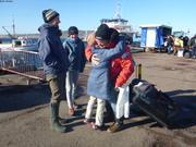 Arrivee de Christophe par le ferry