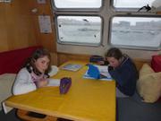 CM1 et 5eme a bord de Vagabond