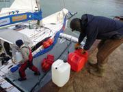 Ravitaillement eau et essence