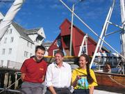 Avec le directeur du musee polaire Tromso