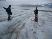Glacier au dessus de la base Corbel
