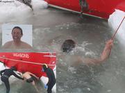 Bain tres froid pour Lucas