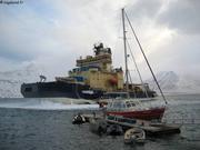 Preparatifs Longyearbyen et arrivee brise-glace