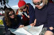 Skieuses preparent itineraire