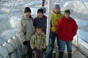 Pose devant le glacier Von Post