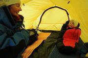 Sieste sous la tente