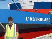Embarquement sur L Astrolabe a Hobart