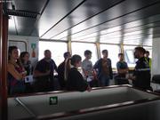Les passagers decouvrent le nouvel Astrolabe