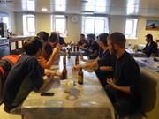 Biere reunionnaise et cartes a bord de L Astrolabe