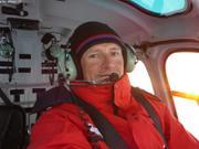 Retour a bord en helico fin de mission banquise